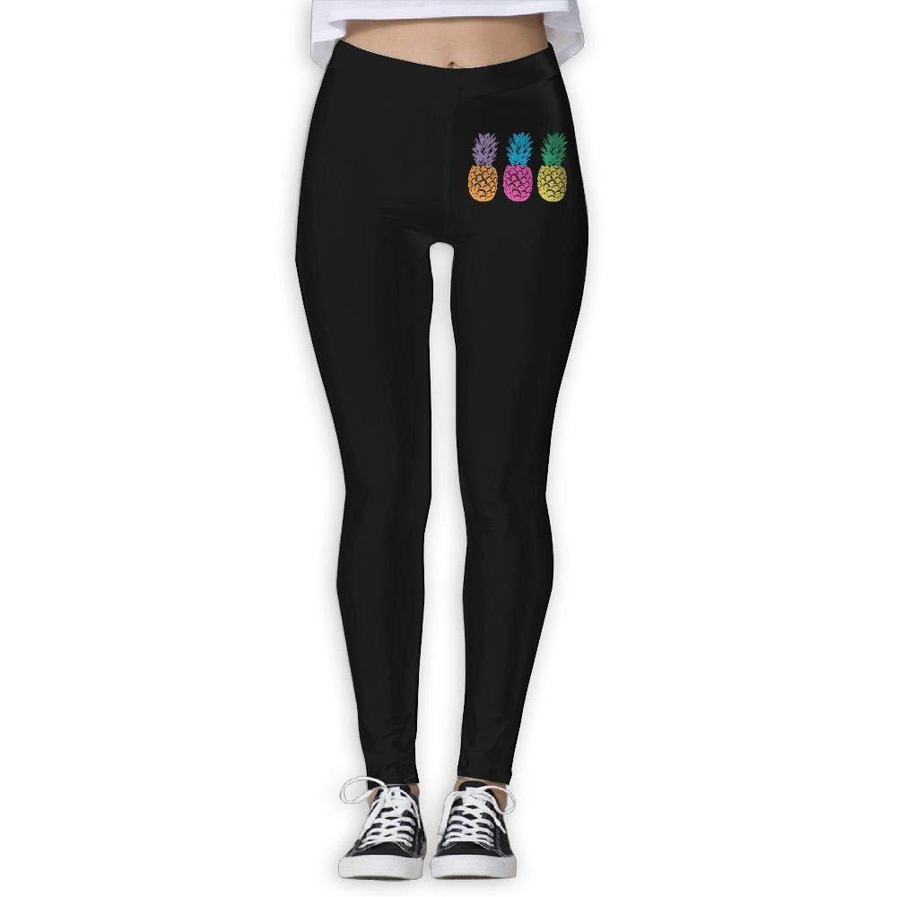 GJL8YOGA Womens Pride Pineapple Printed Leggings High Waist Yoga Pants Running Workout Tights