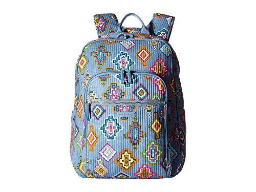 - Vera Bradley Iconic Deluxe Campus Backpack, Signature Cotton, Painted Medallions
