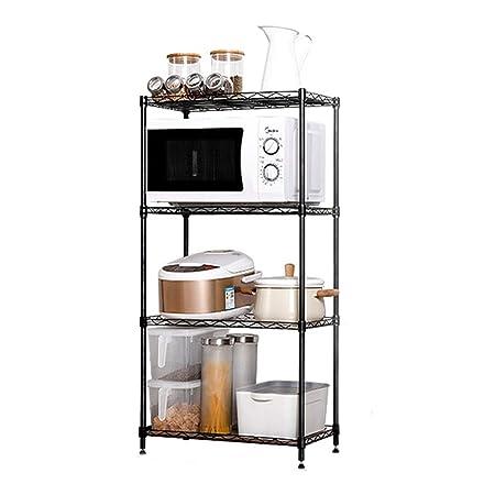 Estantes de Microondas para Cocina Unidad rectángulo estante de la ...