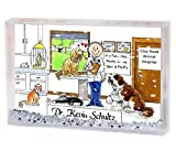 Personalized Friendly Folks Cartoon Snow Globe Frame Gift: Veterinarian - Male Great for animal hospital, thank you gift, veterinary office