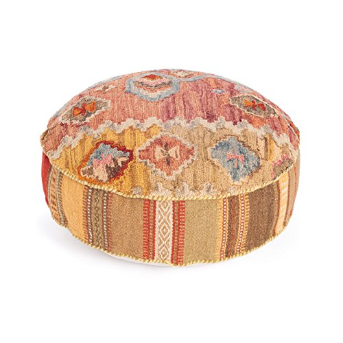 Eclipse Home Collection Duluth Pouf 8'' H x 26'' Dia.