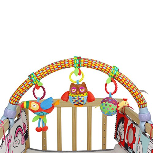 SKK BABY Musical Stroller Crib Activity Bar Toys Car Seat Arch Hanging Rattle Toy Gift For Newborn to Kids by SKK BABY