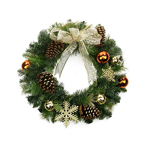 Wreath Christmas Gold (Northlight 24