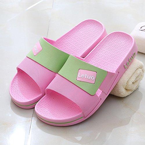 antiscivolo in estate interno padre men rosa bagno pantofole pantofole Soggiorno plastica età 37 donne mezza di fankou cool estate anziani OPxY8Pw