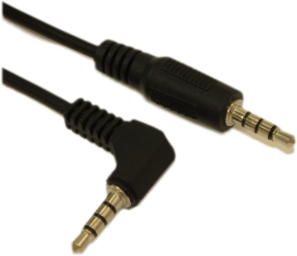 10ft 3.5mm 4 Conductor TRRS ANGLED//STRAIGHT Mini Mic Video M//M Cable