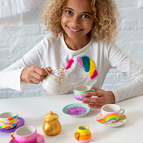 Just My Style Paint Your Own Rainbow Tea Set by Horizon Group USA Multi