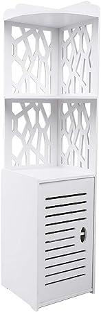 meuble de salle de bain armoire colonne etagere de rangement moderne design armoire d angle pour salle de bain 29x29x120cm blanc