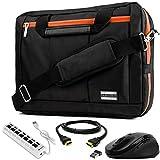 VanGoddy 3-in-1 Orange Trim Hybrid Laptop Bag