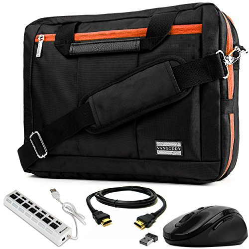 (EL Prado 3-in-1 Hybrid Orange Trim Carrier for HP Elite Series/ProBook / Spectre/ChromeBook / Pavilion/Envy / 11