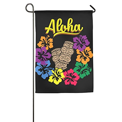 - Hopes's Luau Hula Home Flag Graphic Garden Flag Concise Outdoor Flags Cartoon Yard Flag