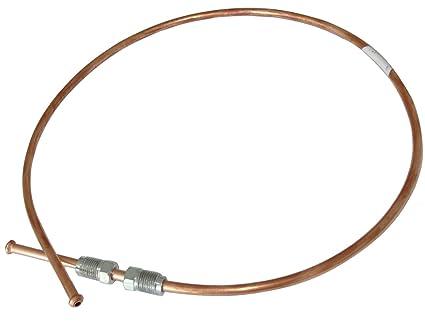 70cm L/ínea de freno manguera tubo de cobre /Ø4.76mm con racores M10x1//M10x1 AERZETIX