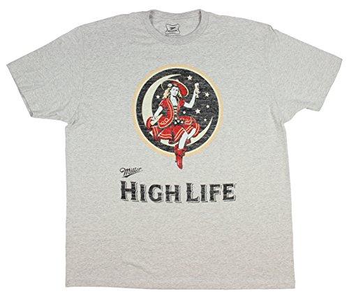 Mad Engine Miller High Life Cheers Moon Mens Short Sleeve T Shirt (Small) (Merchandise Lite Miller)