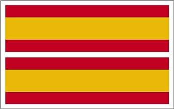 Artimagen Pegatina Bandera Rectángulo España 2 uds. 70x20 mm/ud.: Amazon.es: Coche y moto