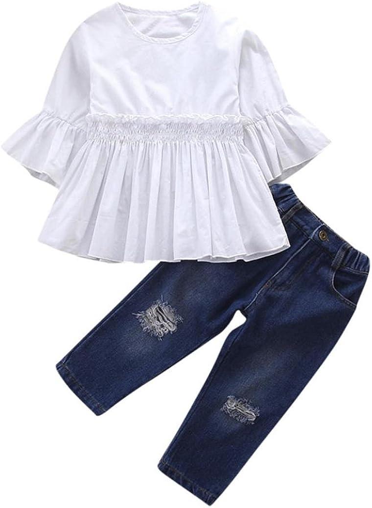 kaiCran 2018 Summer 2PCS Girls Stripe T Shirt Girls Skirt Tutu Party Princess Skirt Outfits Sets