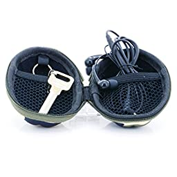 U-TIMES Grenade Pattern Small Camo EVA Keys Bag Coins Pouch Data Headphone Cable Storage Holder 2Pcs/Pack (05 Army Green & Blue)