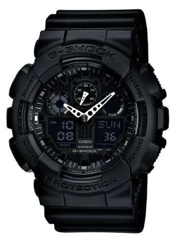 Casio G-Shock X-Large Display Stealth Black Watch (GA110-1B) - Water and Shock Resis