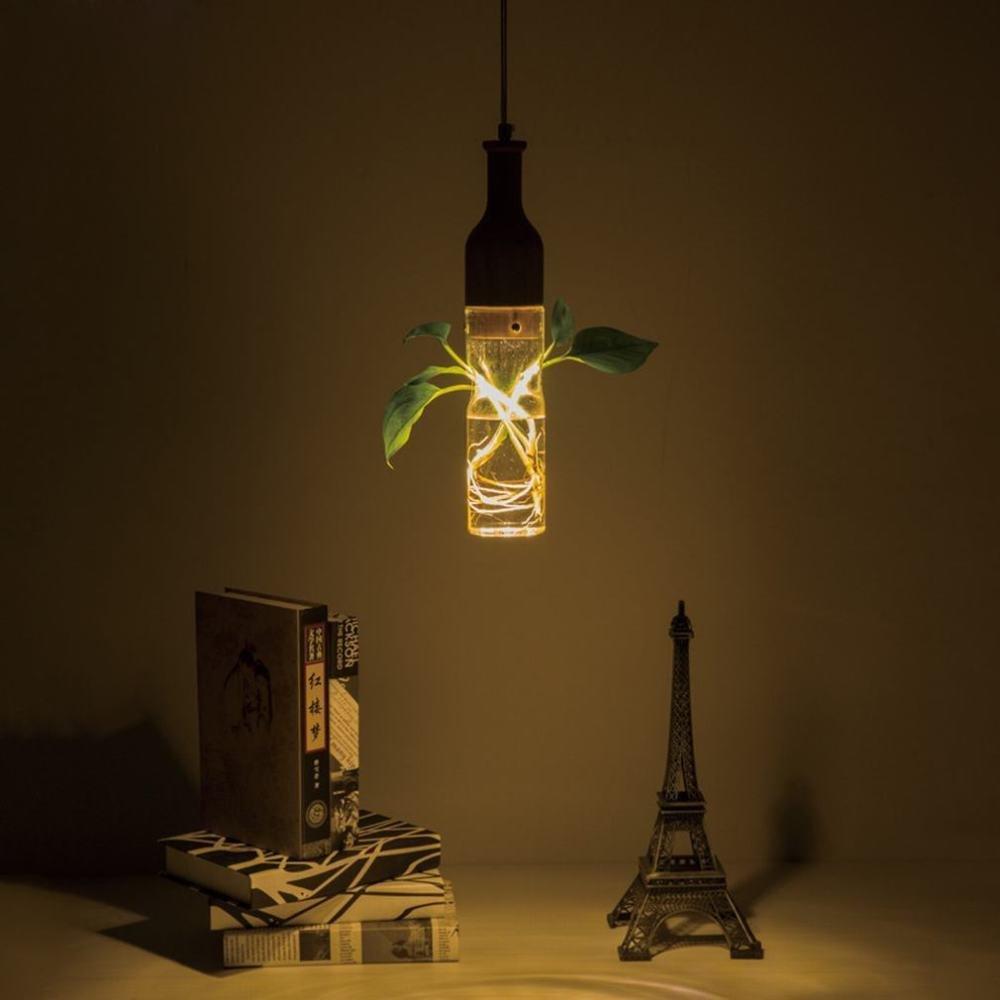 DEN Creative solid wood art green plant chandelier LED restaurant personality modern minimalist chandelier,A,Single head