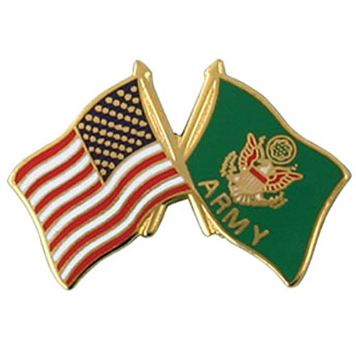 (Mitchell Proffitt United States Army Seal Flag with American Flag Pin Military Collectibles, Red White Blue Green Gold, 1 inch )