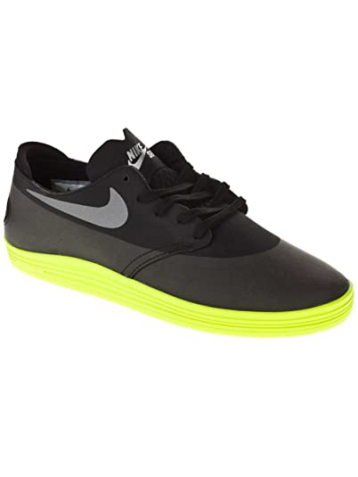 finest selection 77c14 04e16 Nike SB Lunar Oneshot Mens Skate Shoes in Black Reflective Silver Volt sz