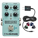 TC Electronic Quintessence Harmonizer Pedal -INCLUDES- Blucoil Power Supply Slim AC/DC Adapter 9V DC 670mA with US Plug AND Blucoil Guitar Picks