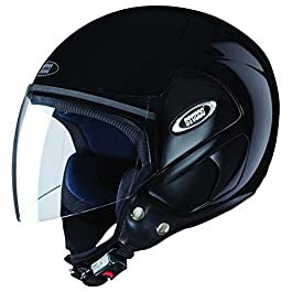 Studds CUB Open Face Helmet (Black, Large)