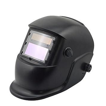 Máscara de soldadura energía solar iluminación automática soldadura negra soldadura soldadura soldadura de arco ajustable