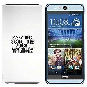 YiPhone /// Prima de resorte delgada de la cubierta del caso de Shell Armor - TODO VA A ESTAR BIEN - HTC Desire Eye M910x