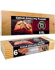 6 XL cederhouten grillplanken – 6 stuks
