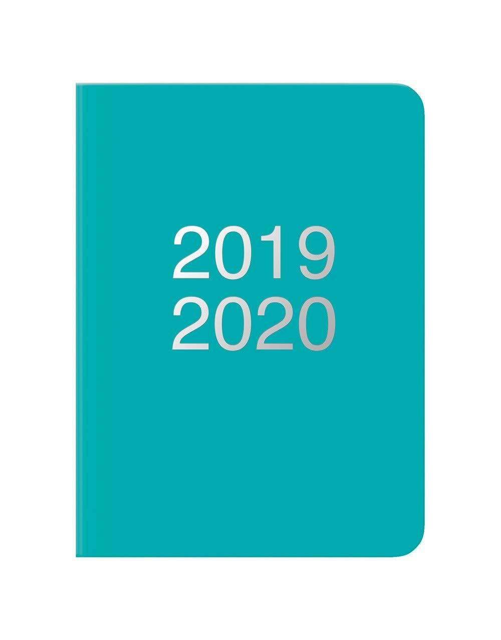 Letts 2019//2020 1 settimana su 2 pagine formato A5 Diario scolastico Dazzle colore: Turchese