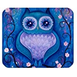 Owl Watercolor Painting Art Design Customized Rectangle Mouse Pad