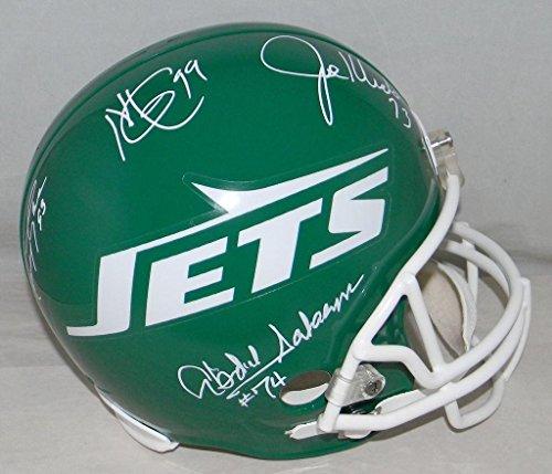 Salaam New York Jets Sack - New York Sack Exchange Nyse Signed Jets F/s Helmet Klecko Gastineau Lyons Salaam - Autographed College Helmets
