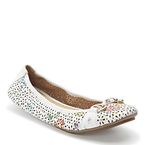 White Leather Pump 2 Multi Floral Too Women's Lightning Me 8Rn47qx