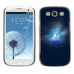 Shell-Star ( Cancer Zodiac Sign ) Snap On Hard Protective Case For Samsung Galaxy S3 III / i9300 i717