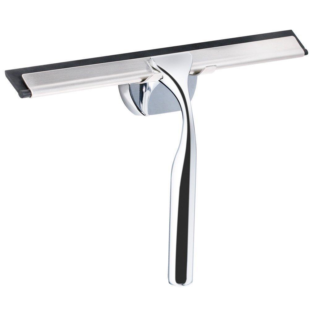 rovtop limpiacristales ducha limpiaparabrisas de baño de acero inoxidable la cepillo de goma de limpiar para limpio espejo: Amazon.es: Oficina y papelería