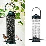 Zaote Outdoor Hanging Bird Seed Feeder Wild Bird Garden Feeder Heavy Duty Seed Funnel Bird Feeders