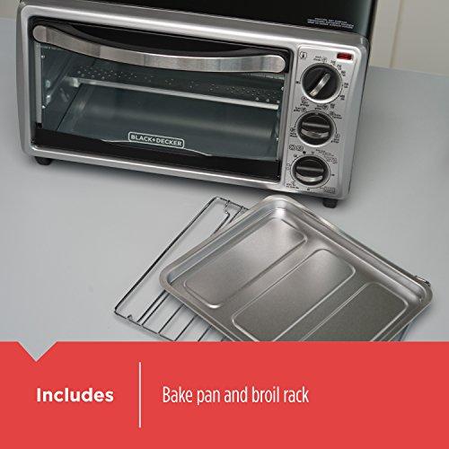 BLACK+DECKER TO1313SBD Decker To1313Sbd 4Slice Toaster Oven, Black by BLACK+DECKER (Image #2)
