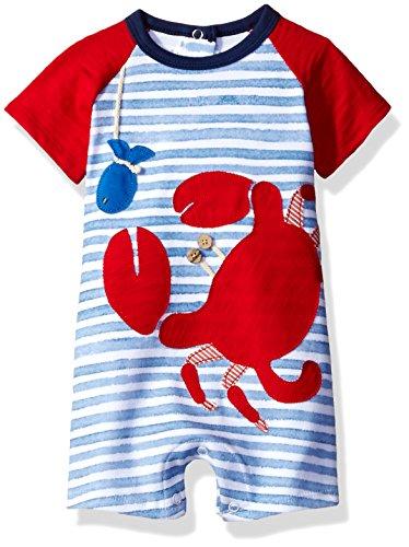 Cardinal Pie (Mud Pie Baby Boys' Shortall One Piece, Crab, 9-12 Months)