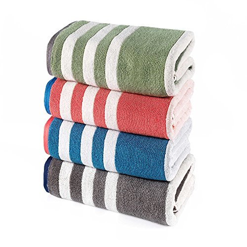Stripe Wash Towel (Brielle Riviera Stripe Wash Towel, Blue)