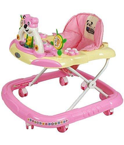 Panda Adjustable Musical Walker - Pink