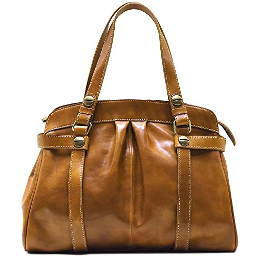 - Floto Milano Shoulder Bag in Olive Honey Brown Italian Calfskin Leather