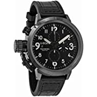[Sponsored]U-Boat Flightdeck 50 Black Dial Leather Mens Watch 7388