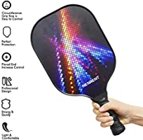 NENRENT Pickleball Paddles Sets of 2 -Premium Graphite Pickleball Rackets with Cover Honeycomb Composite Core Paddle Set Lightweight Carbon Fiber ...