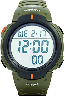 UMBRO UMB-03-3 Unisex ABS Military Green Band, ABS Bezel 48mm Case Analog MIYOTA 2025 Electronic Precision Movement Water Resistant 5 ATM Sport Watch
