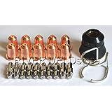 PR0110 Plasma Electrode PD0116-08 Tip Φ0.8 & PC0116 Fit Trafimet S45 Torch,22PK
