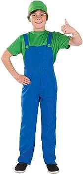 Boys Toys - Disfraz de súper Mario Bros para niño, talla M (6-8 años ...
