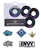Envy Splatter Wheel Sticker Pack (for use with 110mm Wheels)