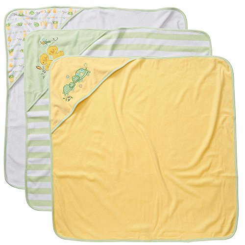 Infant Turtle Towels - Koala Baby Neutral Hooded Towels 3 Pack - Green Turtle/Duck