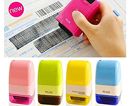 UNAKIM 1 Plus Guard Your ID Roller Stamp SelfInking Messy Code Security Office