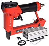 Pneumatic Upholstery Staple Gun, 21 Gauge 1/2' Wide Crown Air Stapler Kit, by 1/4-Inch to 5/8-Inch, 1/4-Inch to 5/8-Inch, with 3000 staples