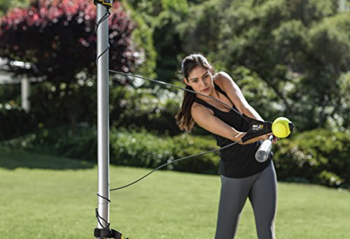 SKLZ Hit-A-Way Swing Trainer for Baseball and Softball - Improve Your Batting Power, Pacing, Timing, and Confidence, Develop Swing Mechanics, Simulates Real Pitches, Get Hours of Swing Training